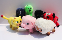 2014 New Hot Retail Minecraft plush Sheep Plush 17cm  My world minecraft JJ coolie creeper strange fear in sheep presale