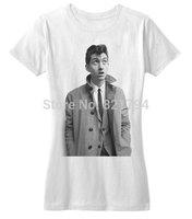 Alex Turner T-Shirt - Trench Coat 2014 New Women T-shirt 100% Cotton Short sleeve Customized Logo Free Shipping