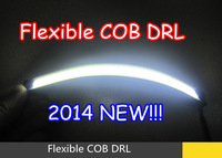 New product!! IP65 E4 Waterproof Flexible COB DRL Daytime running Lights led strip Headlamp reflector