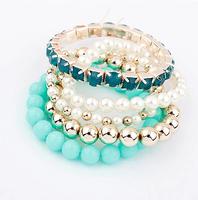 2014 brand charm beads bracelet for women 2014 fashion multi layer vintage new bracelets bangles wholesale jewelry XY-B467