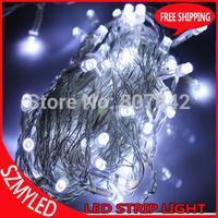 2pcs Cold White 8M 52leds Christmas LED String Light 220V/110V led string 8 Display Modes for Christmas holiday party lights