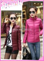 Hot Sale! New High Quality Mandarin Collar Short Women Down Jacket Fashion Winter Women Warm Coat Jacket 12 Color Free Shipping