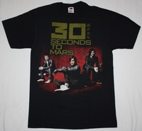 30 SECONDS TO MARS Rock Band t shirt Men T-shirts100% Cotton Short sleeve16 Colors Customized Logo Free Shipping