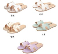 New 2014 summer fashion flip-flop sandals casual comfortable slides women's slippers Flip Flops free shipping 5 colors