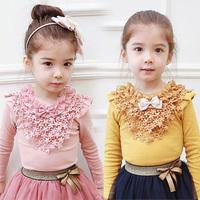 2014 Autumn Korean version of the new children's clothing baby plum female children bottoming T shirt