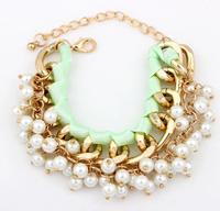 2014 European and American fashion wild temperament pearl bracelet XY-B471