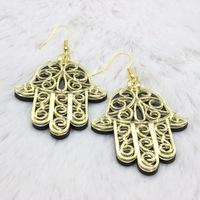 Fashion  Europe  nightclub exaggerated personality Acrylic hand earrings jewelry