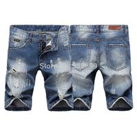 Free shipping,2014 new short mans jeans brand ,high fashion designer brands jeans men ,short jeans for men