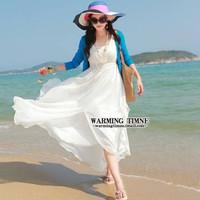New bohemian beach chiffon length skirt swing dress oversized seaside summer vacation child wholesale