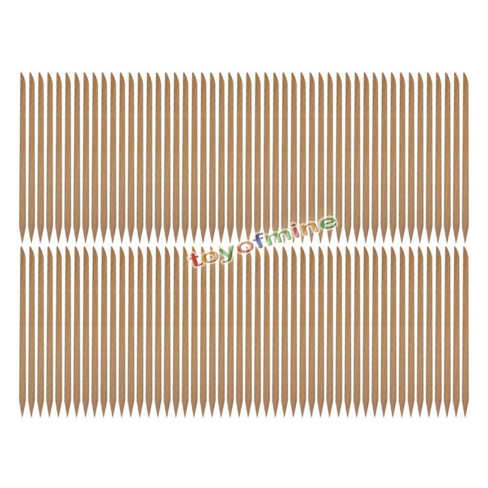 100 X Nail Art Orange Wood Stick Cuticle Pusher Remover(China (Mainland))