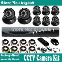 cctv camera system 8ch dvr 700tvl 139 + dsp hd cmos 8pcs dome camera with ir-cut security surveillance system dvr kit
