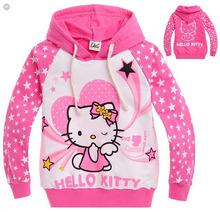New 2014 Girls Hello Kitty Hoody Sweatshirt Children Coats Spring Aut