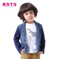 NEW#1421023 2014 boys clothes dark blue tops boy clothes 100% cotton boy suit boys blazer free shipping