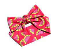 Vintage fashion summer watermelon homemade personalized print cotton cloth hair band bandanas