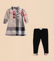 Free Shipping summer dress 2014 baby girls brand clothing sets 2pcs girl T shirt + leggings Sets kids wear pajamas set outfits