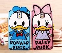 New Original Disny Graffiti Soft Silicon Phone Case for Samsung Galaxy Note 2, Note 3, S3, S4, S5, Donald/Daisy Cartoon Case