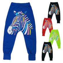 Baby Kid Boy Girl Zebra Printed Hip-Hop Drop Crotch Leisure Haroun Pant Trousers(China (Mainland))