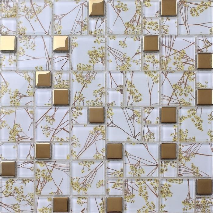 Aliexpresscom Comprar Cristal Claro Mixta De Oro Mosaico Azulejos