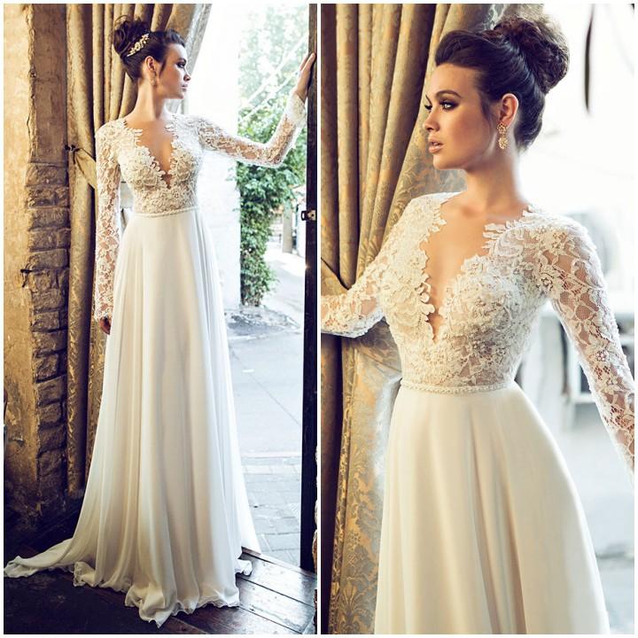 Beautiful Plunging Back Wedding Dress Images - Styles & Ideas 2018 ...