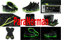 2014 Air Foamposite One ParaNorman 579771 003 Black Colorful Basketball Shoe Mens Sport Sneakers US Size 8-13 Come With Boxes
