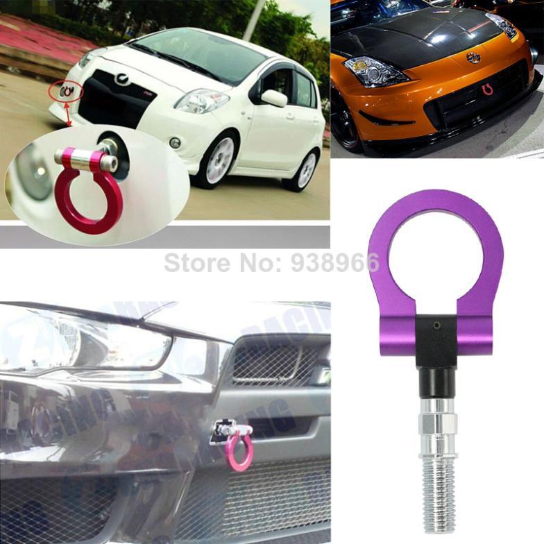 2014 New Purple Car Universal Racing Tow Hook Aluminum material tow hook hitch trailer coupling(China (Mainland))
