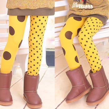 Новый 2 цвета девушка колготки стрейч штанине брюки горошек LeggingsFree и прямая поставка