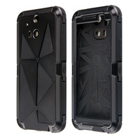 Freeshipping Redpepper Aluminum Alloy Silicone Waterproof/ Shockproof Case for HTC One M8 JK45