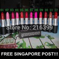 Wholesale 12 Colors/Lot Sexy Charming Cosmetic Makeup Lipstick Moisture Waterproof Beautiful Lipsticks Brand Makeup High Quality