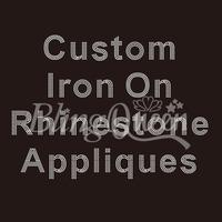 25PCS/LOT Custom Iron On Rhinestone Appliques Hot Fix Iron On Transfers