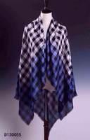 Big trade of the original cargo plaid scarf B gradient color 50% silk 50% cashmere scarf
