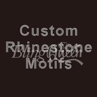 50PCS/LOT Custom Rhinestone Motifs Hot Fix Iron On Transfers