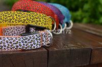 20pcs/lot  Leopard grain stripe panther print adjustable LED flashing dog safety collar collars Pet Pets Collar Dog Cat collars