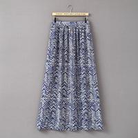 XL-6XL Plus Size Women Print Long Skirt Casual Big Large Oversize XXXL XXXXL XXXXXL XXXXXXL 2014 New Summer Autumn