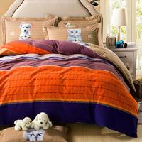 5-pieces 3d queen king size comforter set/quilt/duvet set bed in a bag orange bedding fringe duvet cover teen comforter