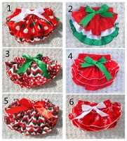 Free shipping Baby Ruffle Bloomers Layers Baby Diaper Cover Newborn Christmas short Cute summer satin ruffle diaper cover