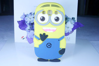 Fashional 3D cute cartoon Soft Rubber silicon Despicable Me Yellow Minion Case Cover for samsung s3 i9300