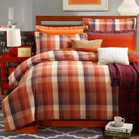 5-pieces 3d queen king size comforter set/quilt/duvet set bed in a bag brown bedding lattice duvet cover man comforter