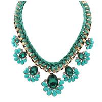 fashion luxury Bohemian temperament short paragraph drops weave necklace X4795