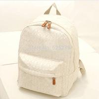 2014 New Korean Women backpack,Lace cute school bags backpacks,Fresh canvas printing backpack women mochila Free Shipping
