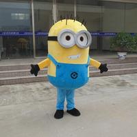 high quality Despicable me minion mascot costume for adults despicable me mascot costume EPE material free shipping