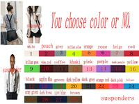Suspenders 1PC New Mens Womens Unisex Clip-on Suspenders Elastic Y-Shape Adjustable Braces Colorful 15 kind colors u choose
