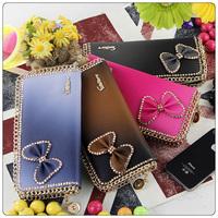 WBG0056 2014 New fashion Crystal long style handbag lady girl wallet bow butterfly diamond women wallet Drop shipping