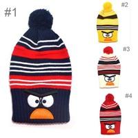New Fashion Child winter knitted hat Bird design Boys girls Warm cap Kids animal hats Lovely benaies 2pcs H526
