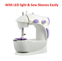 Hot Selling Electric Household Mini Sewing Machine with LED Light and Power Supply, Handwork DIY Sartorially, Free Shipping
