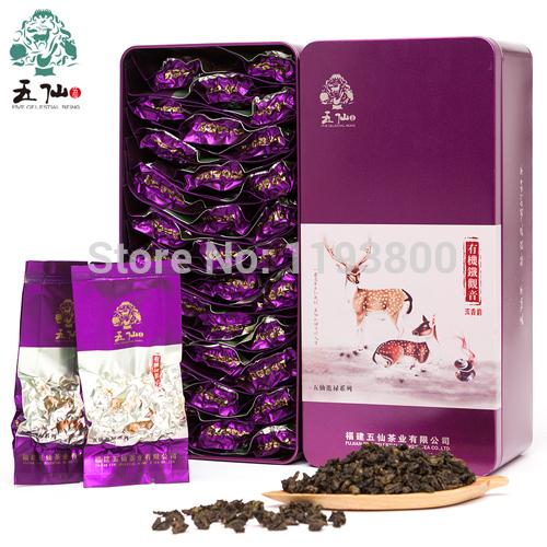 Free shipping on big sale china Anxi tieguanyin charcoal baked premium quality goods 250 g fresh tea mountain organic tea aroma(China (Mainland))