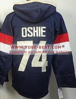 #74 T.J.Oshie Jersey Black,Ice Hockey Jersey Hoodie, Hoodies Jersey,Best quality,Embroidery logos,Size M--XXXL,Mix Order