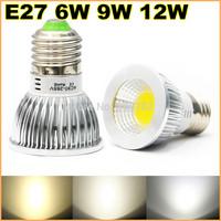 New High power E27 110V 220V 6w 9w 12w led Dimmable cob spotlight lamp bulb warm cool pure white lights