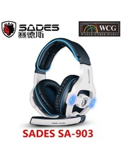 Original Sades SA-903 USB Wired Gaming Headset Headphone 7.1 Surround Sound Anti-noise Volume Control with Micphone For PC