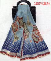 Scarf silk scarf silk luxury fashion letter world map Women Big size 200CM*100CM