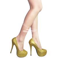 Fashion Women's Platform Stiletto Classic High Heel Pumps Glitter Shoes